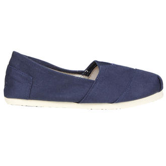 View Item Navy Canvas Flat Shoe